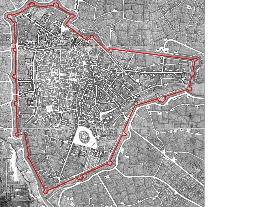 Dati significativi Oltre 11 km di lunghezza 19 bastioni, tutti esitenti 8 porte (due demolite e una mai aperta)