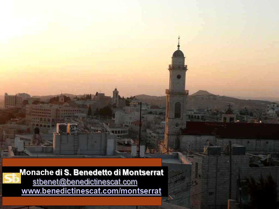 di S. Benedetto di Montserrat stbenet@benedictinescat.com Monache di S. Benedetto di Montserrat stbenet@benedictinescat.com www.benedictinescat.com/mo