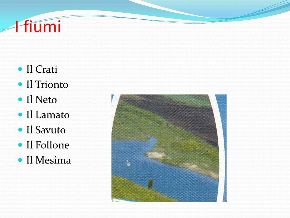 I monti M. Ciagola, M. Pollino, Serra Dolcedorme, La Sila, M. Botte Donato, M. Mazzagullo, Serralta S. Vito, M. Pecoraro, M. Poro,Aspromonte.