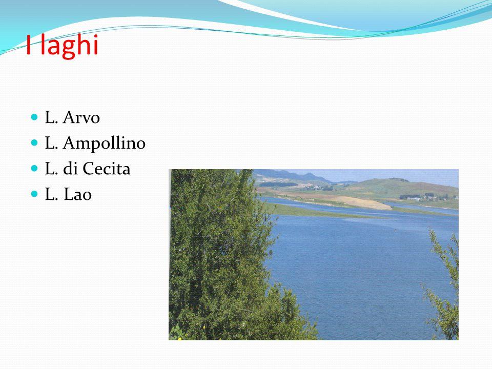I laghi L. Arvo L. Ampollino L. di Cecita L. Lao