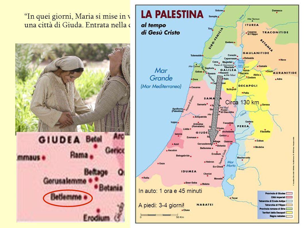 """""""In quei giorni, Maria si mise in viaggio verso la montagna, e raggiunse in fretta una città di Giuda. Entrata nella casa di Zaccaria, salutò Elisabet"""