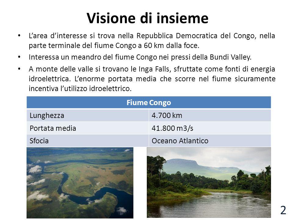Visione di insieme L'area d'interesse si trova nella Repubblica Democratica del Congo, nella parte terminale del fiume Congo a 60 km dalla foce. Inter