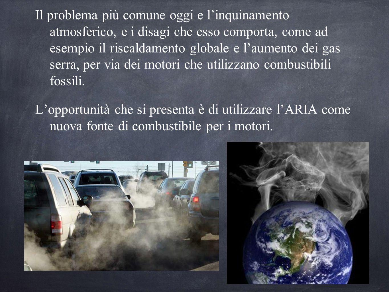 Il problema più comune oggi e l'inquinamento atmosferico, e i disagi che esso comporta, come ad esempio il riscaldamento globale e l'aumento dei gas s
