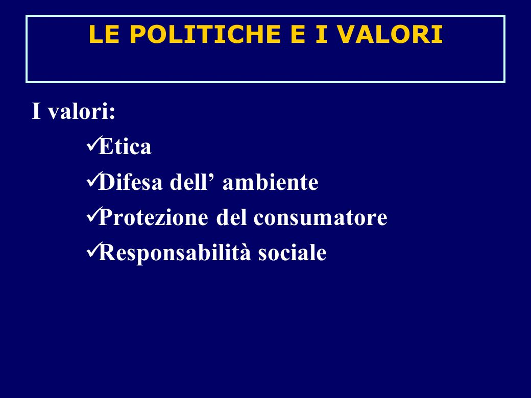 BUSINESS ETHICS Che cosa s' intende per Business ethics.