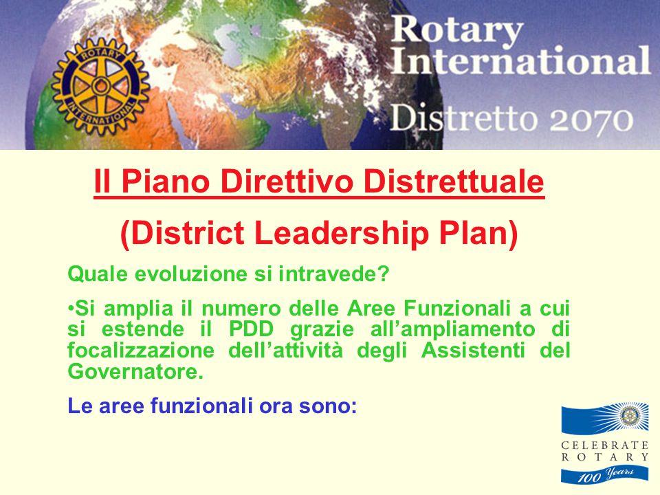 Il Piano Direttivo Distrettuale (District Leadership Plan) Quale evoluzione si intravede.