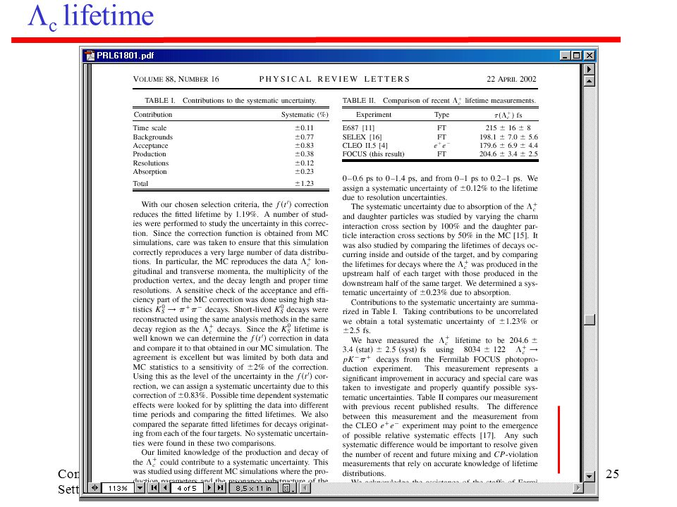 Commisione I, Settembre 2002 E831-FOCUS25  c lifetime
