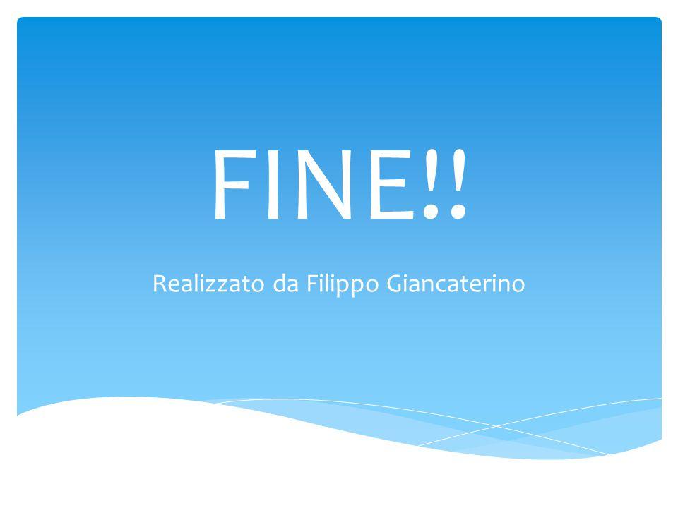 FINE!! Realizzato da Filippo Giancaterino