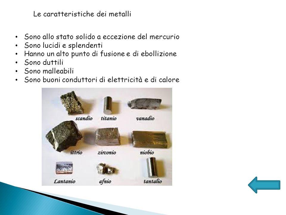 Caratteristiche dei non metalli Si trovano allo stato gassoso, alcuni allo stato solido e uno solo allo liquido : il bromo Non sono lucidi, ma opachi