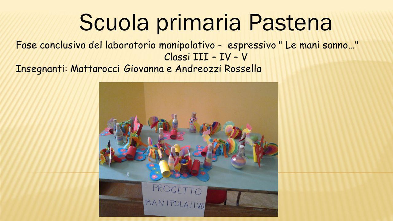 Scuola primaria Pastena Fase conclusiva del laboratorio manipolativo - espressivo