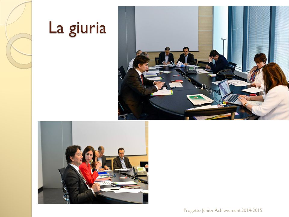 La giuria Progetto Junior Achievement 2014/2015