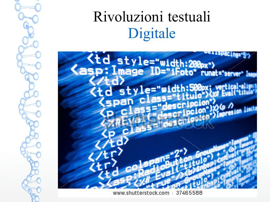 Rivoluzioni testuali Digitale