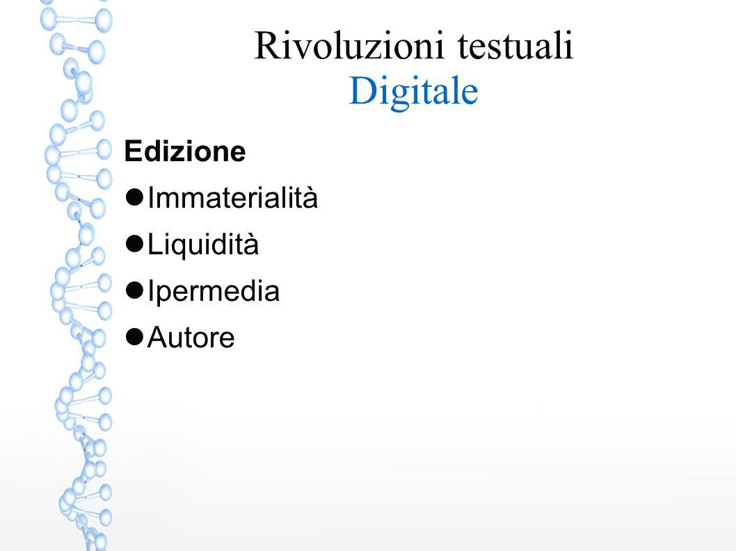 Edizione Immaterialità Liquidità Ipermedia Autore