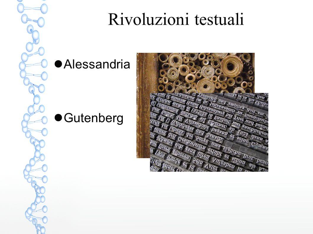 Rivoluzioni testuali Alessandria Gutenberg