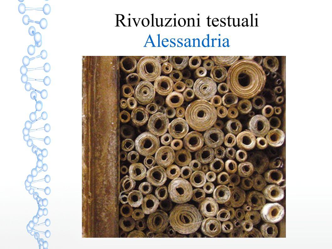 Rivoluzioni testuali Alessandria