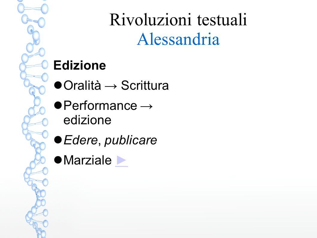 Edizione Oralità → Scrittura Performance → edizione Edere, publicare Marziale ►►