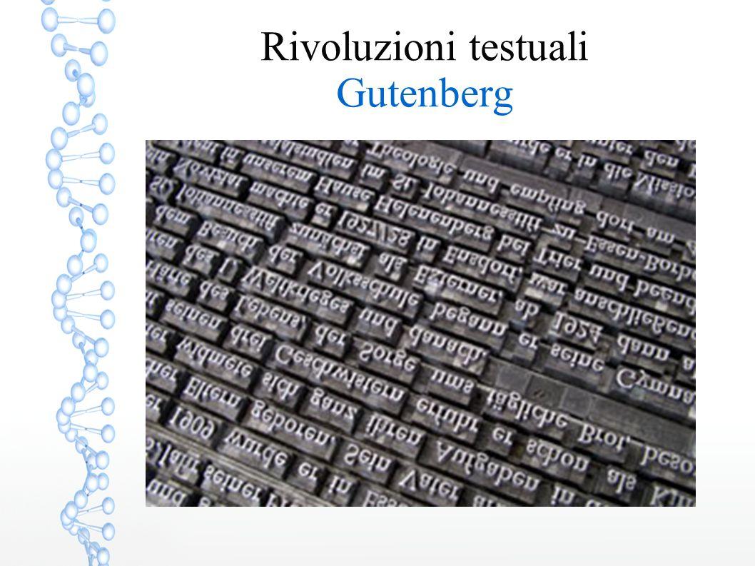 Rivoluzioni testuali Gutenberg