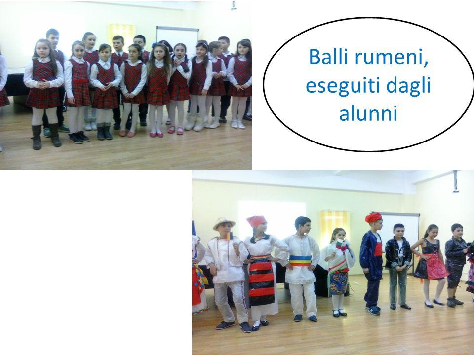 Balli rumeni, eseguiti dagli alunni