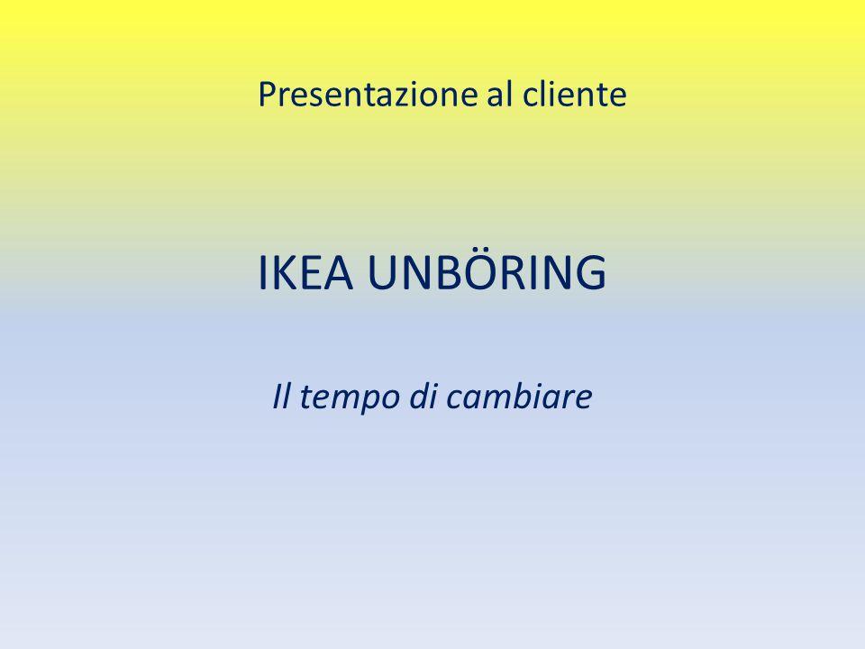 IKEA UNBÖRING Il tempo di cambiare Presentazione al cliente