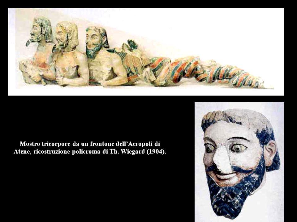 Leone da Loutraki, ricostruzione policroma.Leone da Loutraki, 550 a.C., Glyptothek, Copenaghen.