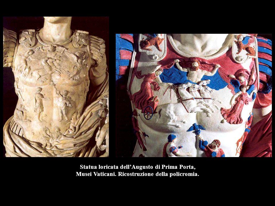 Statua loricata dell'Augusto di Prima Porta, Musei Vaticani. Ricostruzione della policromia.