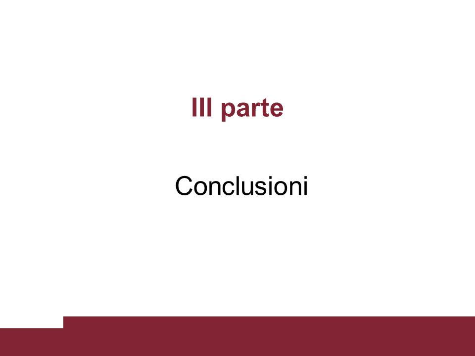 III parte Conclusioni