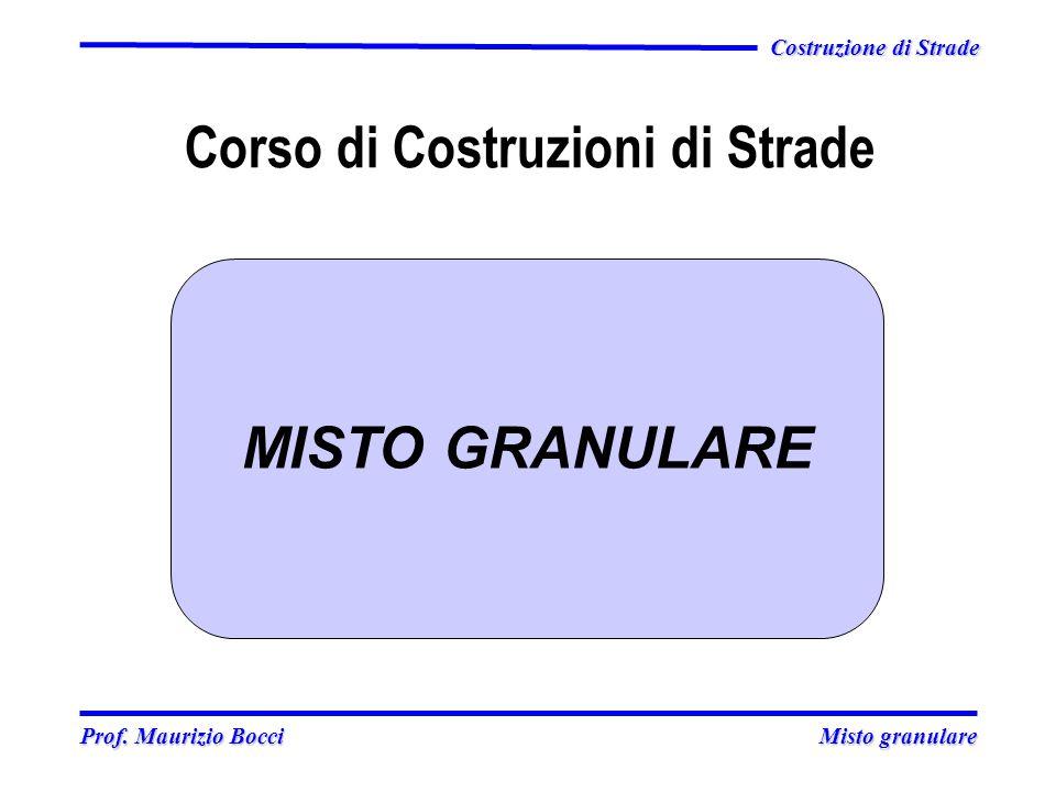 Prof. Maurizio Bocci Misto granulare Prof. Maurizio Bocci Misto granulare Costruzione di Strade Corso di Costruzioni di Strade MISTO GRANULARE