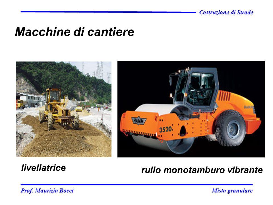 Prof. Maurizio Bocci Misto granulare Prof. Maurizio Bocci Misto granulare Costruzione di Strade Macchine di cantiere livellatrice rullo monotamburo vi