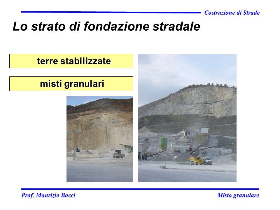 Prof. Maurizio Bocci Misto granulare Prof. Maurizio Bocci Misto granulare Costruzione di Strade misti granulari misti granulari terre stabilizzate ter