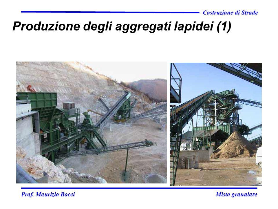 Prof. Maurizio Bocci Misto granulare Prof. Maurizio Bocci Misto granulare Costruzione di Strade Produzione degli aggregati lapidei (1)