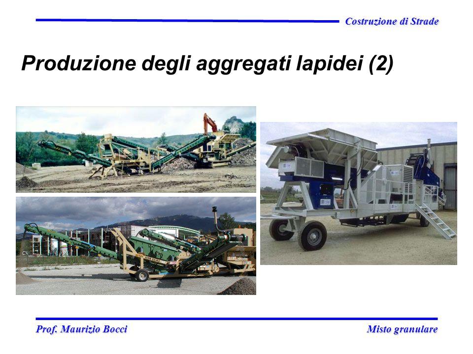Prof. Maurizio Bocci Misto granulare Prof. Maurizio Bocci Misto granulare Costruzione di Strade Produzione degli aggregati lapidei (2)