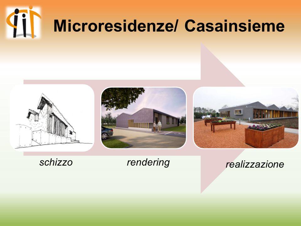Microresidenze/ Casainsieme schizzorendering realizzazione