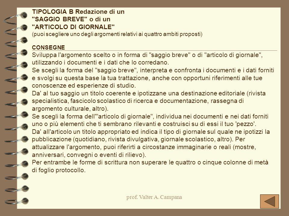 prof. Valter A. Campana TIPOLOGIA B Redazione di un