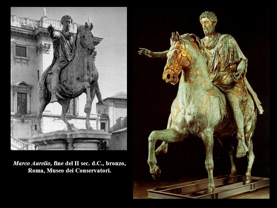 Marco Aurelio, fine del II sec. d.C., bronzo, Roma, Museo dei Conservatori.