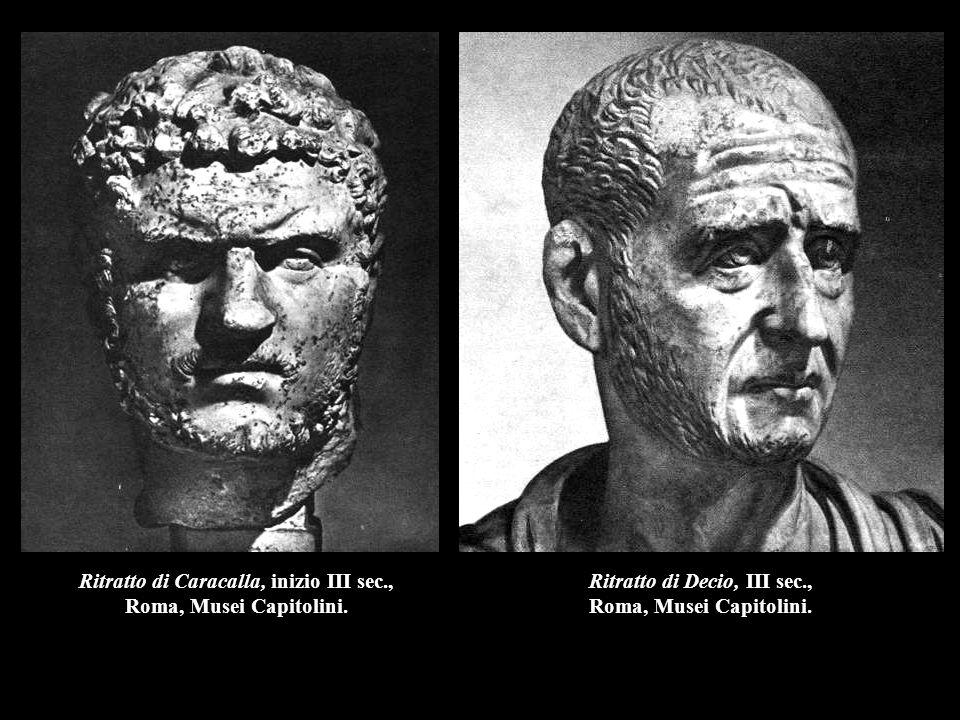 Ritratto di Caracalla, inizio III sec., Roma, Musei Capitolini.