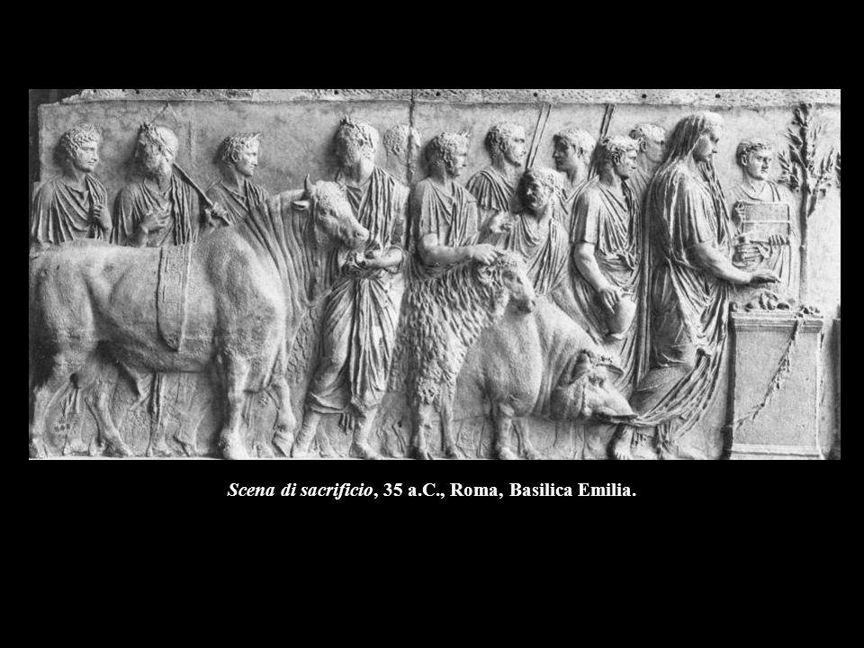 Scena di sacrificio, 35 a.C., Roma, Basilica Emilia.