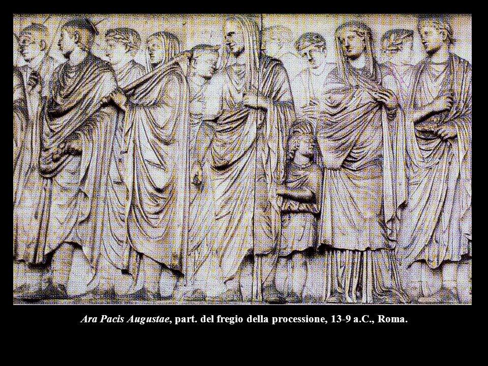Ara Pacis Augustae, part. del fregio della processione, 13-9 a.C., Roma.