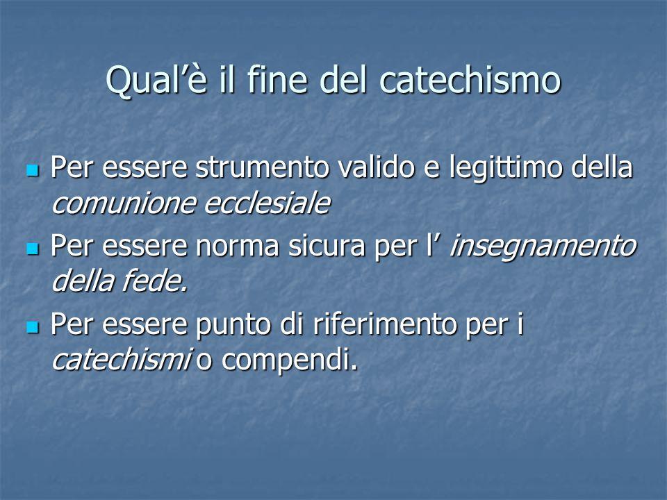 A chi è destinato Il catechismo è destinato ai Vescovi, Cardinali, Presbiteri, religiosi, religiose, laici.