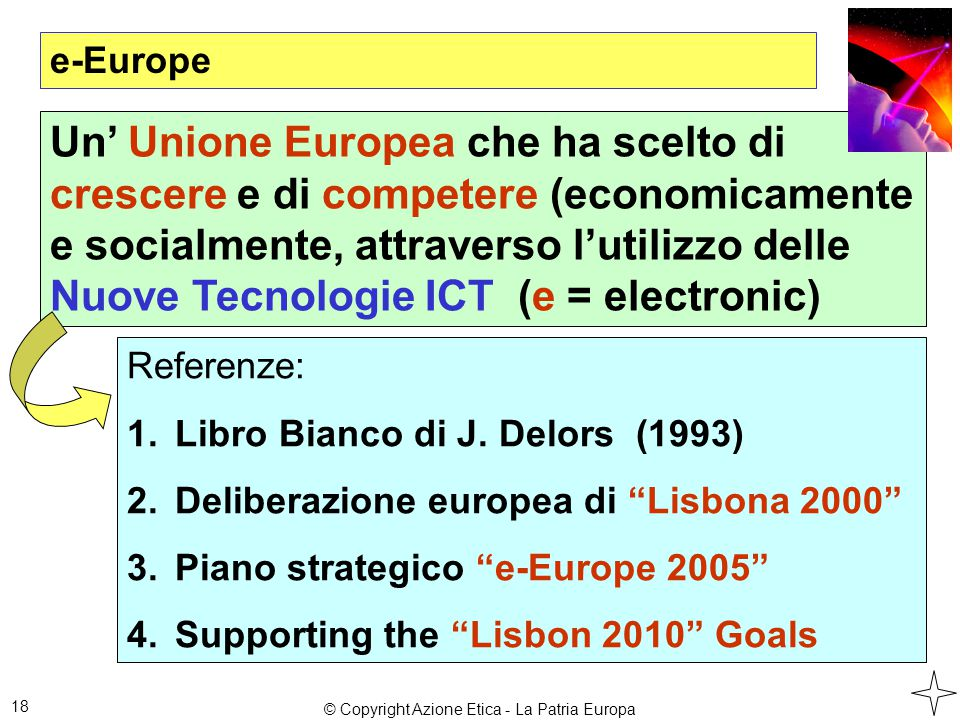 e-Europe 18 Referenze: 1.Libro Bianco di J.