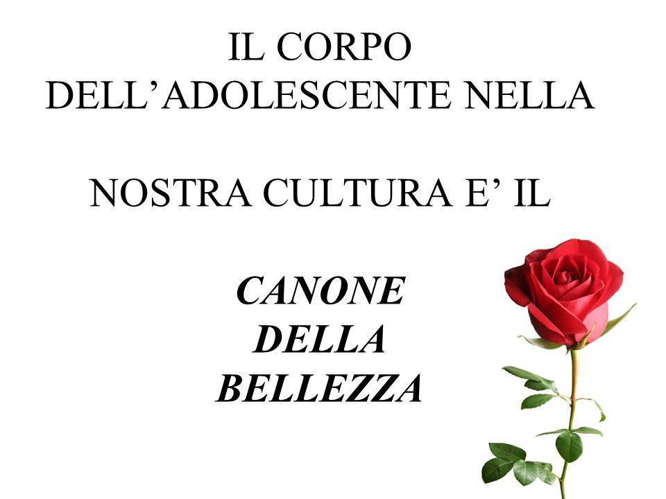 IL CORPO DELL'ADOLESCENTE NELLA NOSTRA CULTURA E' IL CANONE DELLA BELLEZZA