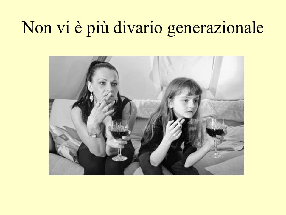 Non vi è più divario generazionale