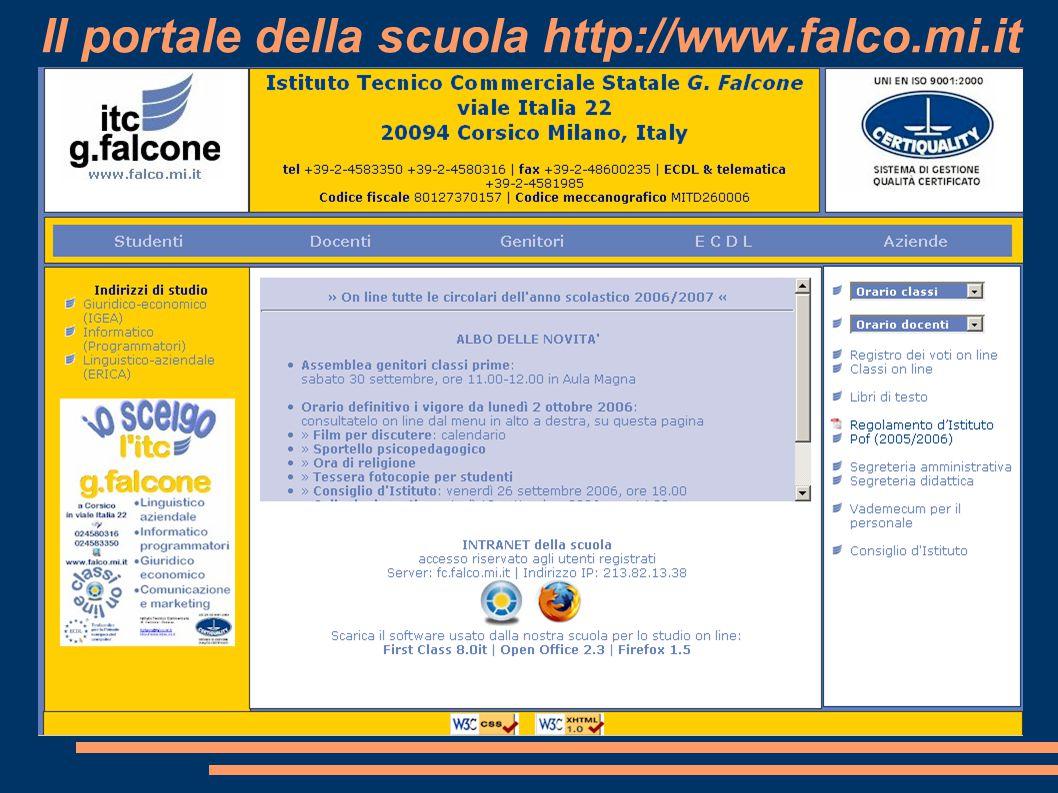 Il portale della scuola http://www.falco.mi.it