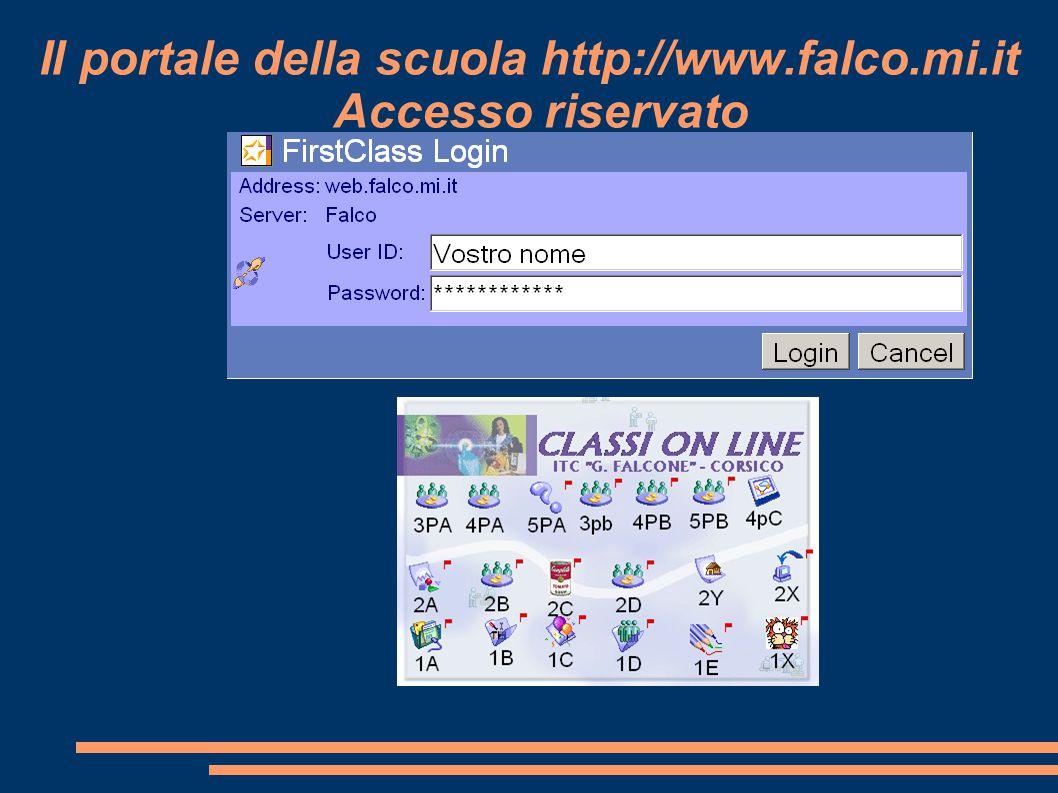 Il portale della scuola http://www.falco.mi.it Accesso riservato