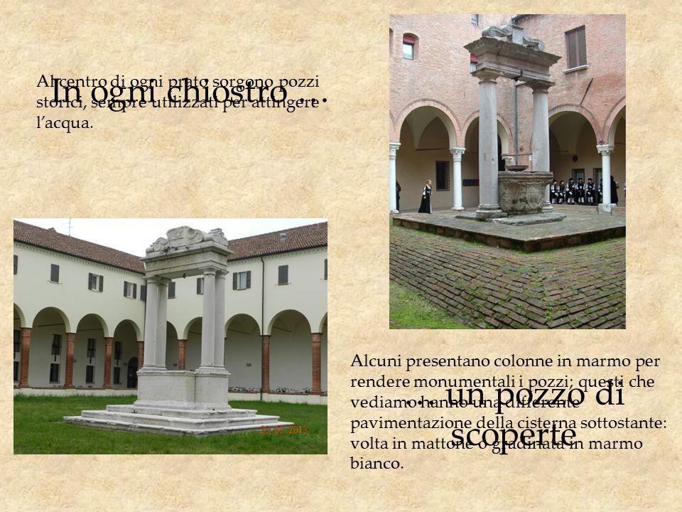 Ogni arcata … … ha la sua storia Le arcate a tutto sesto sono sorrette da colonne con capitelli di marmo, anche molto raffinati … … come quello del portico della piazzetta Sant'Anna con volute e motivi vegetali.