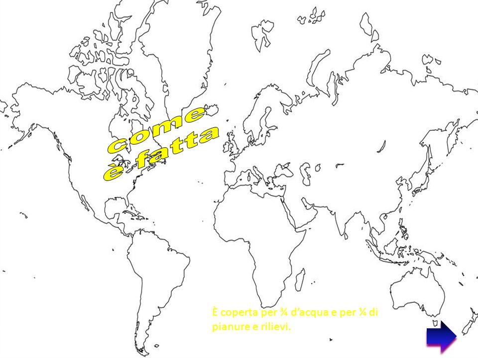 Una linea di separazione immaginaria, detta Equatore, divide la terra in due emisferi: l'emisfero nord o boreale, l'emisfero sud o Australe.