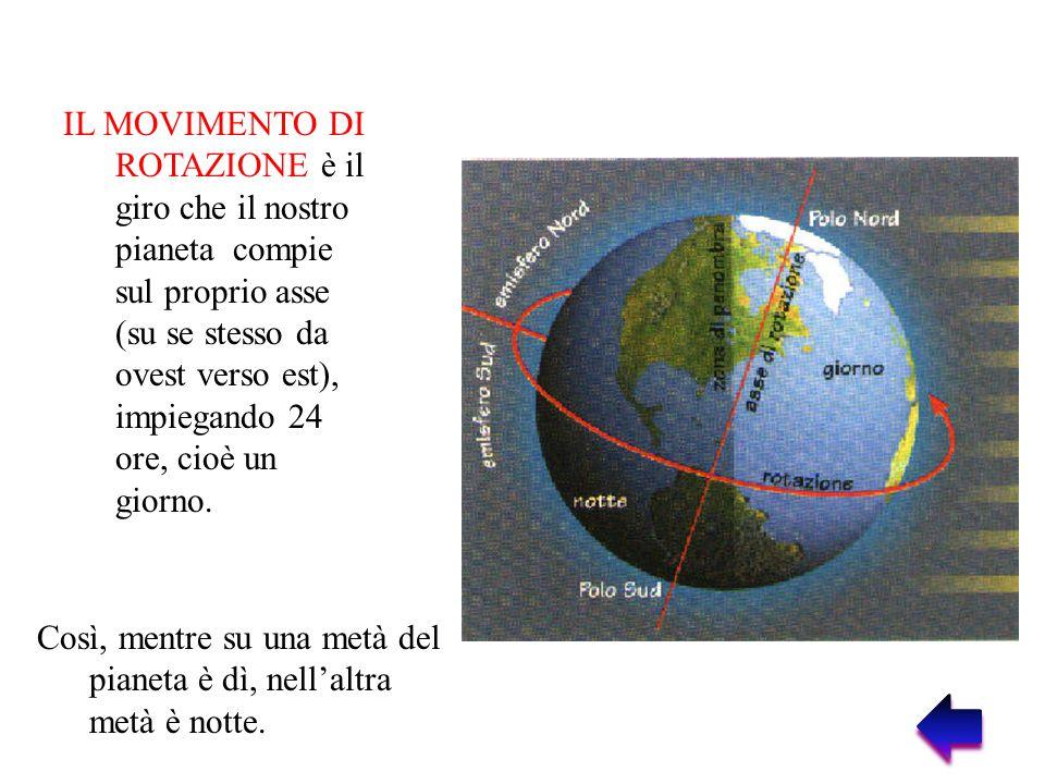 IL MOVIMENTO DI RIVOLUZIONE è il giro che la Terra compie intorno al sole, impiegando circa 365 giorni e 6 ore, cioè un anno e 6 ore.