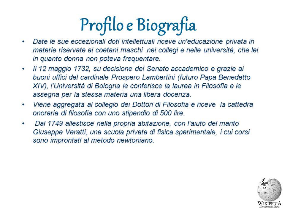 Profilo e Biografia Date le sue eccezionali doti intellettuali riceve un'educazione privata in materie riservate ai coetani maschi nei collegi e nelle