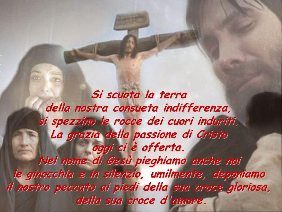 Guardiamo al Figlio di Dio, che non è sceso dalla croce cercando di salvare se stesso, ma ad essa è rimasto confitto, salvando tutti noi. Fedele al di