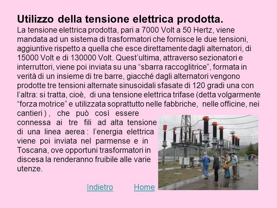 Utilizzo della tensione elettrica prodotta.