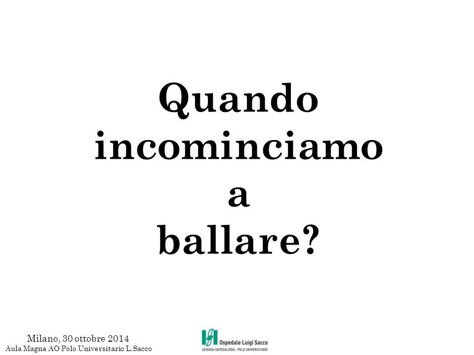 Quando incominciamo a ballare? Milano, 30 ottobre 2014 Aula Magna AO Polo Universitario L.Sacco