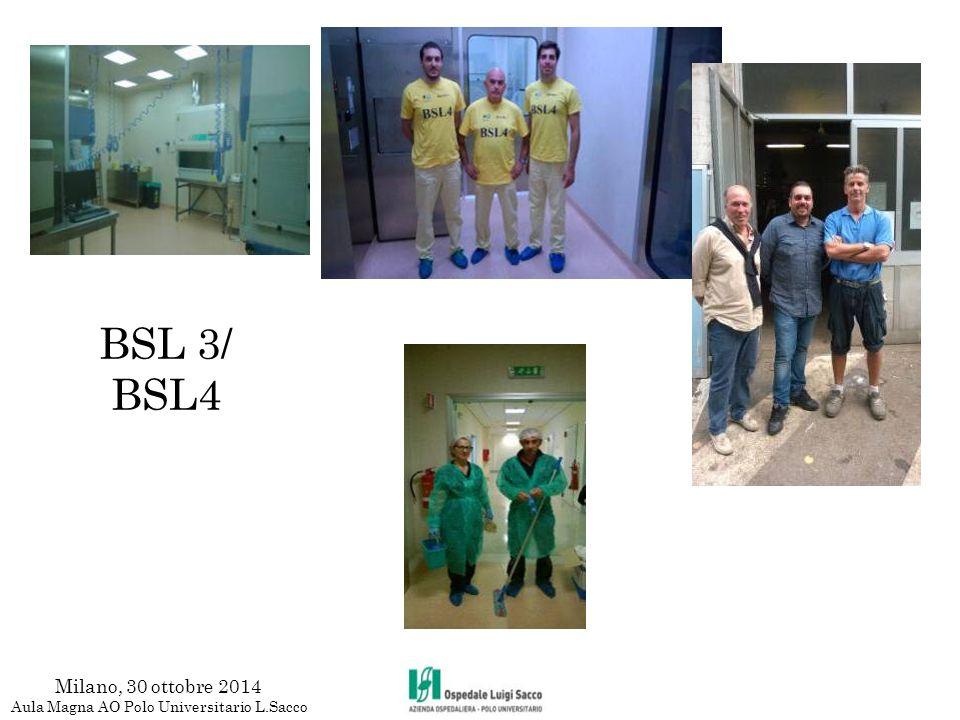 BSL 3/ BSL4 Milano, 30 ottobre 2014 Aula Magna AO Polo Universitario L.Sacco